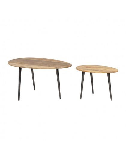 TABLE BASSE EN BOIS DE MANGUIER HERVEA - SEMA