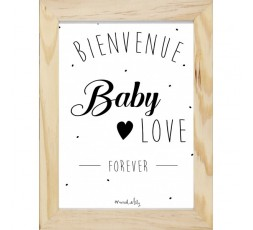 """AFFICHE """"BABY LOVE"""" - MARCEL & LILY"""