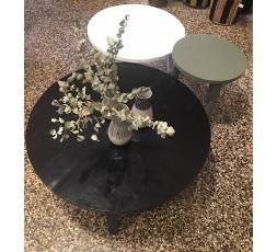 TABLE RONDE EN BOIS PEINT- LAZARE HOME