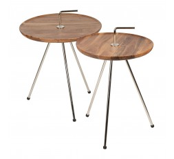 TABLE POIGNEE EN ACACIA - SEMA