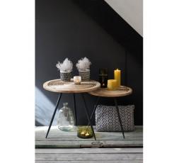 TABLE BASSE EN ROTIN NATUREL - RED CARTEL